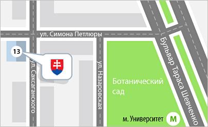 Карта проезда Киев, Едем в Словакию