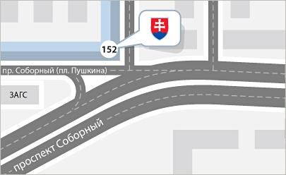 Карта проезда Запорожье, Едем в Словакию