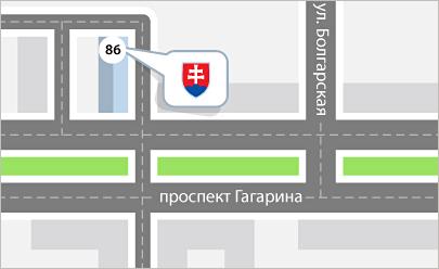 Карта проезда Днепр, Едем в Словакию