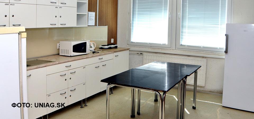 Кухня общежития аграрного университета в Нитре